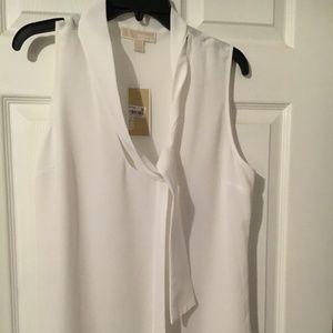 Michael Kors Sleeveless White Blouse - Size 14